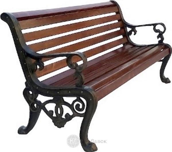 Скамейка чугунная «Аллея»